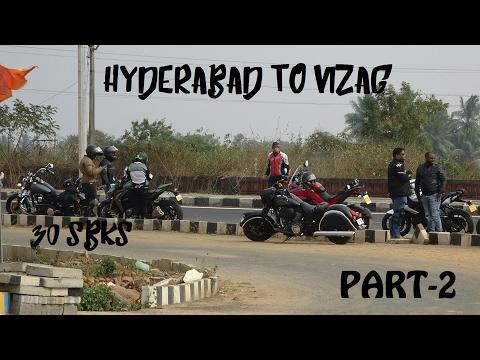 Hyderabad To Vizag Part 2   30 Superbikes