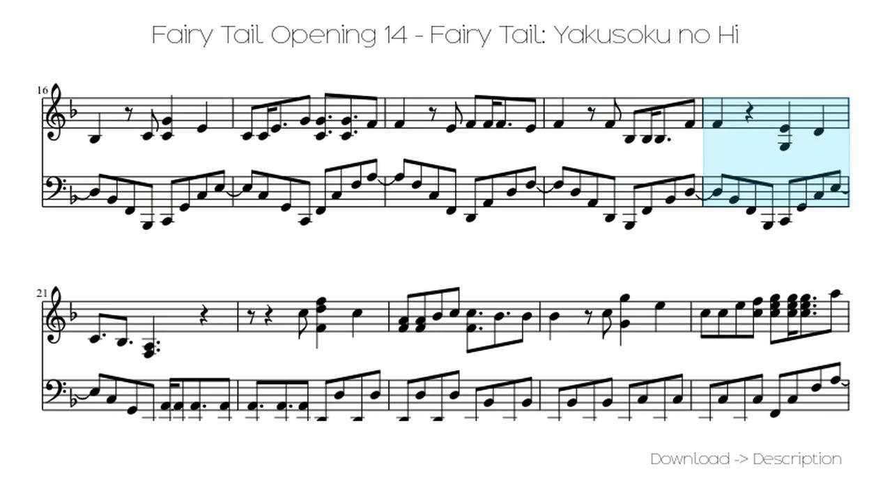 a musica yakusoku no hi