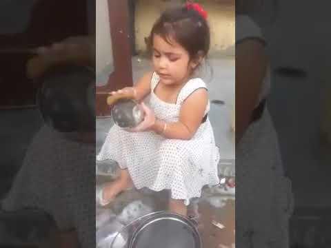 Little Girl Action As MoM
