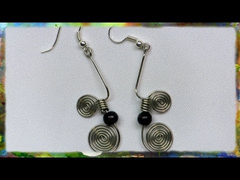 How To Make Silver Wire Earrings, the Greek Link by Ross Barbera