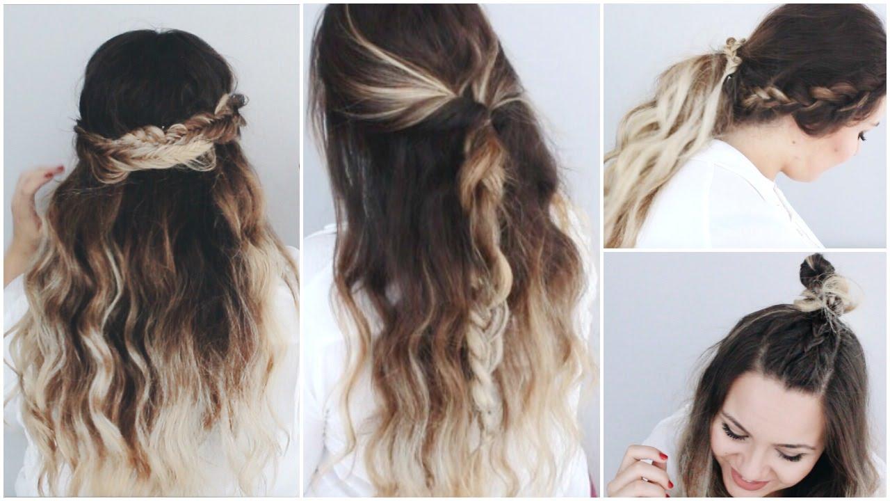 5 peinados faciles y rapidos para el dia a dia con trenzas - Trenzas peinados faciles ...