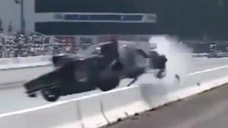 【誰が想像できただろうか‥】飛び散る破片に絶望!?ドラッグレースの事故映像!!