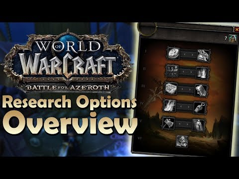 BFA Research Options Overview! Better than Order Hall Advancements? | Battle for Azeroth