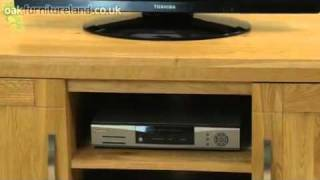 Andorra Solid Widescreen Tv / Vcr / Dvd Cabinet From Oak Furniture Land