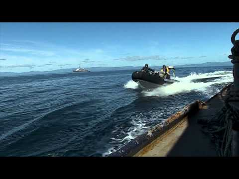 OTAGO Chases Illegal Fishing Boats With MPI Fisheries Officers.