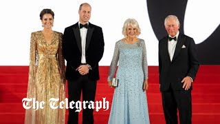 video: No Time to Die: Prince Charles, the Duchess of Cornwall and the Cambridges attend James Bond premiere