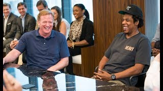 Jay z and Roger Goodell press conference about new NFL deal ( RANT ) no click bait