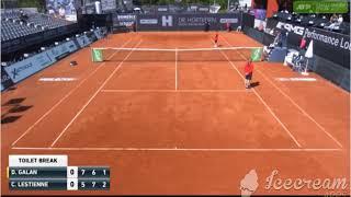 Weirdest 5 minutes of tennis ever: Galan losing points during urgent toilet break