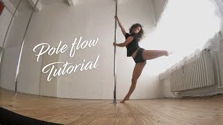 Pole Flow Choreography Tutorial for Beginners / Intermediate
