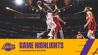HIGHLIGHTS | Los Angeles Lakers vs Washington Wizards