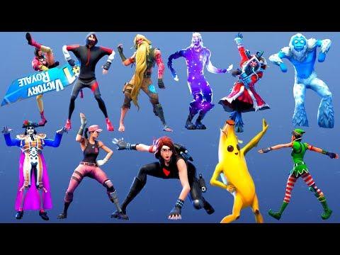 ALL FORTNITE DANCES & EMOTES EVER MADE SEASON 1-9