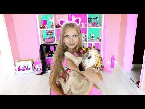 ПРЕВРАЩЕНИЕ КОШКИ В ЕДИНОРОГА !!! КЕНДИ больше не котенок ?Видео для детей.Cat turns into unicorn