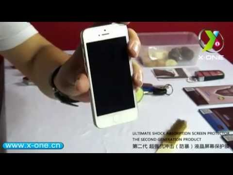 X-ONE Ultimate shock absorption  screen guardian best LIVE DEMO (iPhone)