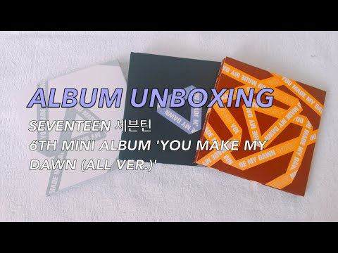 Download Unboxing Seventeen 6th Mini Album You Made My Dawn