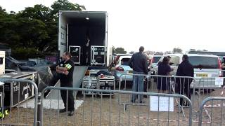 Metallica playing Shortest Straw in a truck at Sonisphere 2011