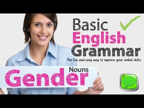 English Grammar Lessons - Gender