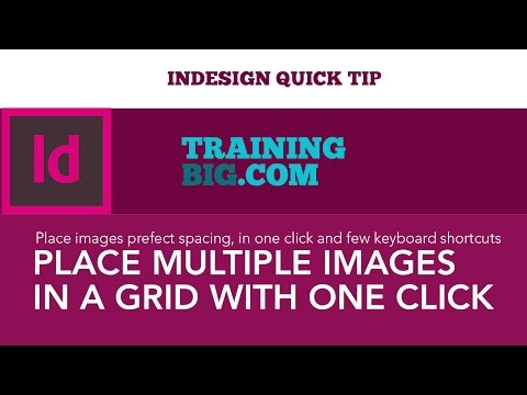InDesign Quick Tip - Place multiple Images in a grid with one click