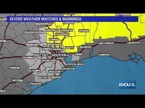 Meteorologist Blake Mathews Gives Update On Severe Weather In Texas, Louisiana