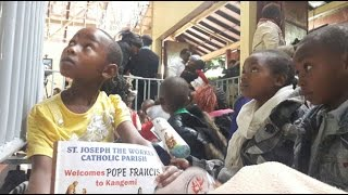 Excitement as Pope arrives in Kangemi