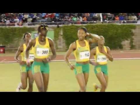 Jamaica Girls 4x400 Relay Team Wins Carifta Bermuda Apr 9 2012
