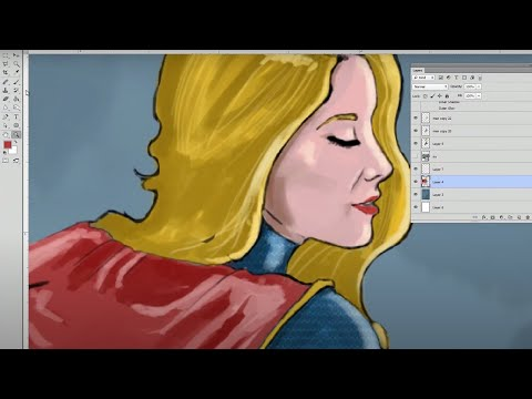 Speed Painting  Sexy SuperGirl  How to Paint SuperGirl   Art  Tutorial