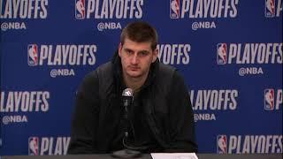 Nikola Jokic Postgame Interview - Game 1 | Spurs vs Nuggets | 2019 NBA Playoffs