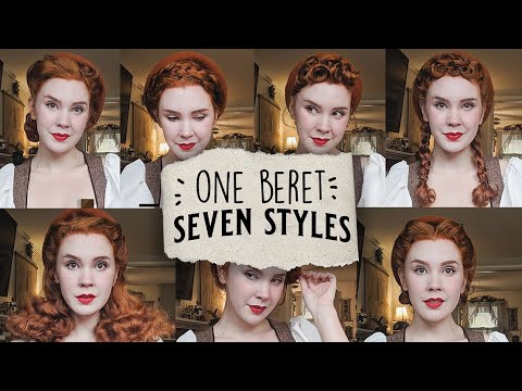 One Beret, Seven Styles!✨ || Vintage Hair Tutorial