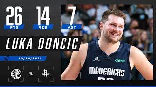 Luka Doncic's 26 PTS, 14 REB & 7 AST help Mavs take down Rockets