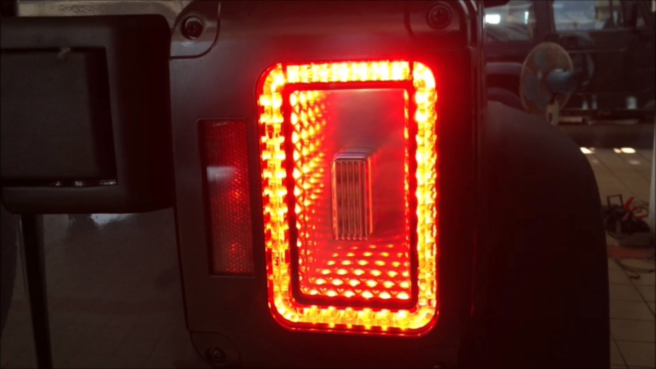 Jeep Wrangler Led Tail Lights >> 2007 2017 Jeep Wrangler Led Tail Light Lamp Black Hole