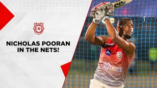 Nicholas Pooran hitting it hard in the nets!