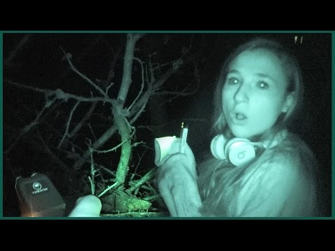 Visiting Scary Haunted Woods at Night - We Freaked Out Running Away