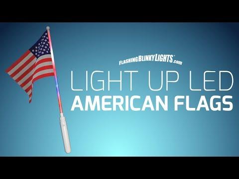 Light Up LED American Flags From FlashingBlinkyLights.com