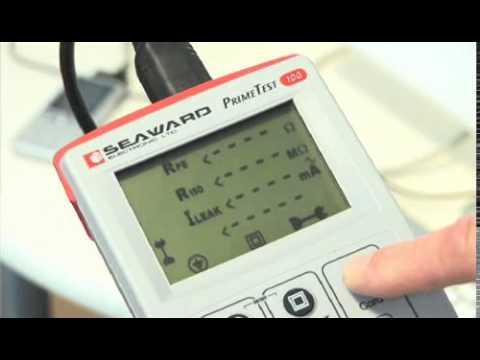 Seaward IEC Cord Tester - Seaward PrimeTest 100 PAT Tester (Portable Appliance Testers)