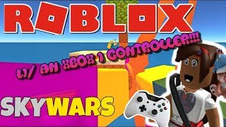 ROBLOX SKYWARS WITH AN XBOX ONE CONTROLLER!