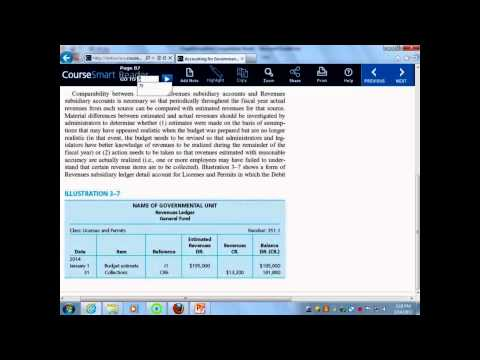 Gov't & Not For Profit Accounting - Expenses & Revenues
