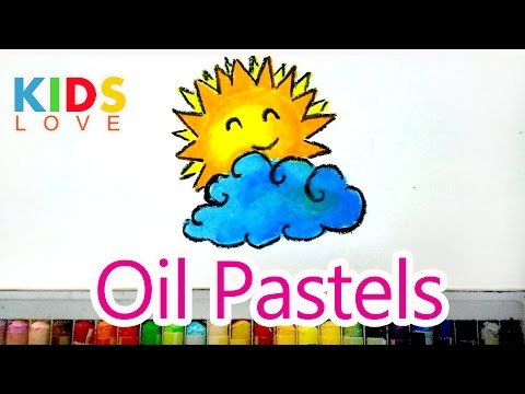 How to color sun with oil pastels l kids love