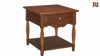 Kincaid 68-022w American Journal Drawer End Table-eggshell White