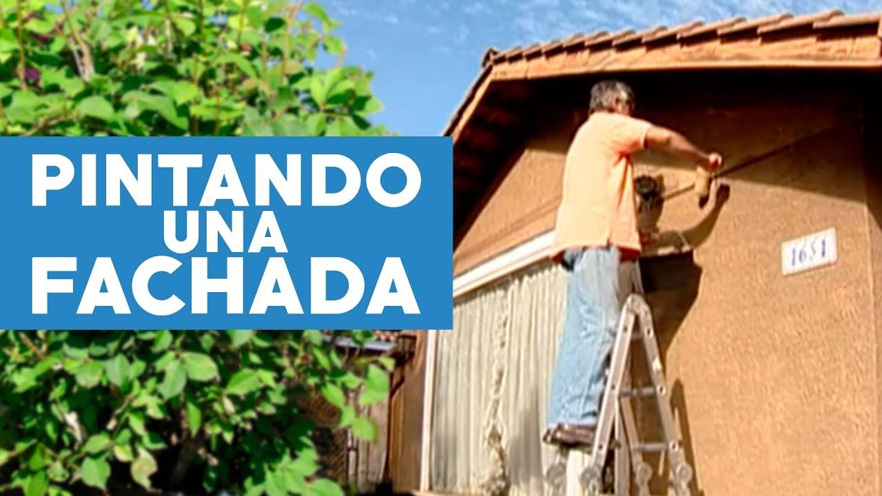 C mo pintar una fachada youtube - Ideas para pintar la casa ...