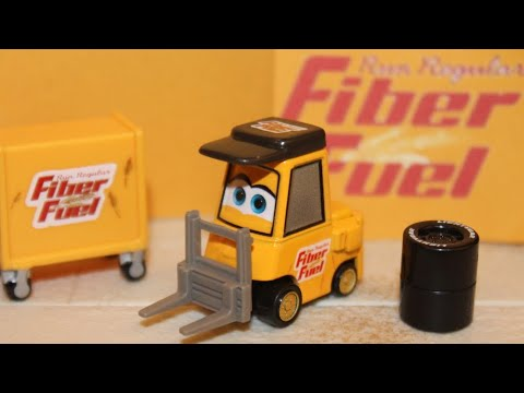 Mattel Disney Cars Megan Shifter Fiber Fuel Pitty Piston Cup