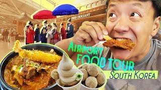 SPICY Korean SHORT RIBS & Airport FOOD TOUR of Incheon in Seoul South Korea