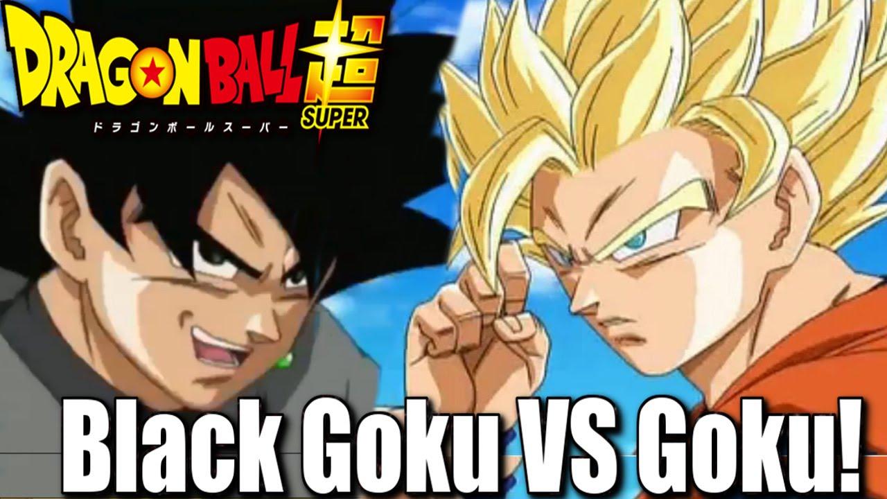 SSJ2 Goku VS Black Goku!! Black IS STRONG!
