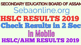 HSLC RESULT 2019 | check in 2 second in mobile| Class 10 SEBA result|Matric Candidate|high school