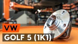 Hvordan bytte foran hjullager / foran hjullagersett der på VW GOLF 5 (1K1) [AUTODOC-VIDEOLEKSJONER]