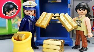 Toni und Karlchen rauben die Bank aus - Playmobil Polizei Film - KARLCHEN KNACK #140