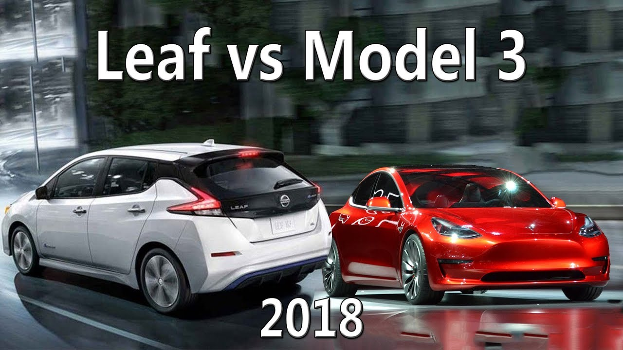Обзор Nissan Leaf 2018 и Сравнение с Tesla model 3