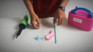 Cara mengikat balon gagang / balon stik