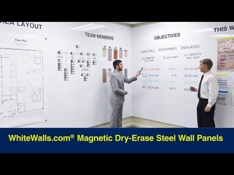 Magnetic Dry Erase Whiteboard Wall Paneling Youtube
