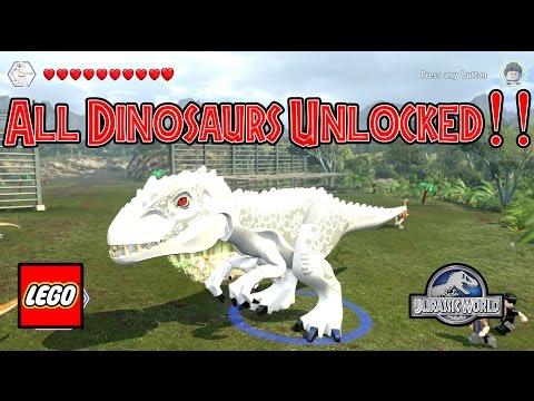 LEGO Jurassic World - All Dinosaurs Unlocked (With Gameplay!)