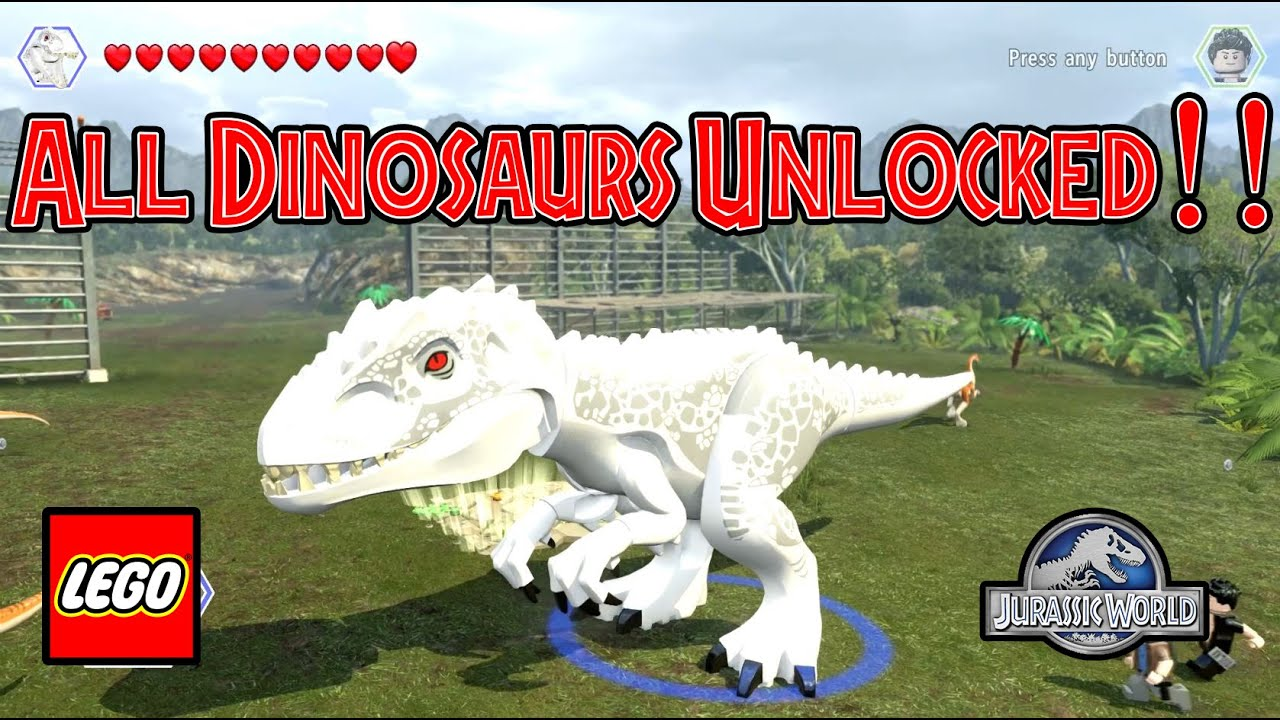 how to buy dinosaurs in lego jurassic world