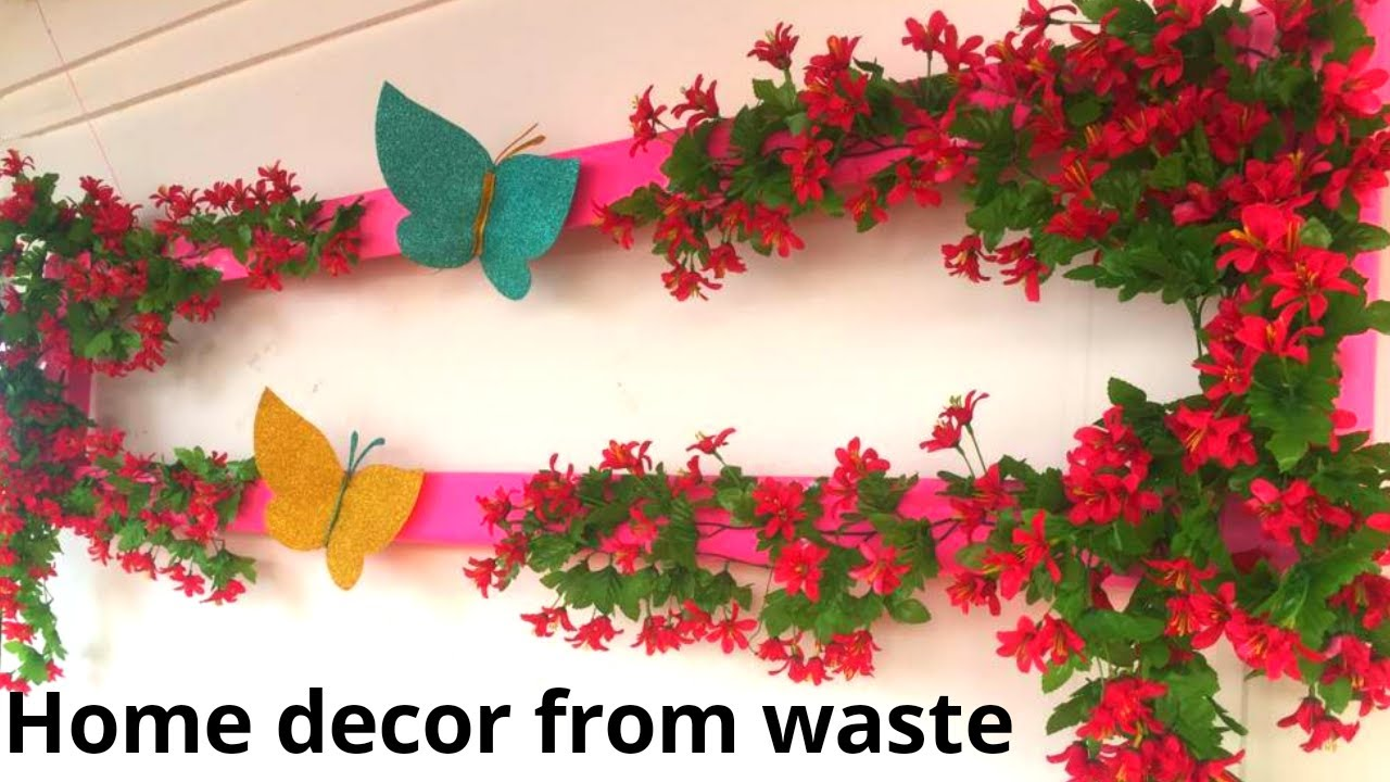 Wall Decoration Ideas How To Make A Cardboard Photo Frame